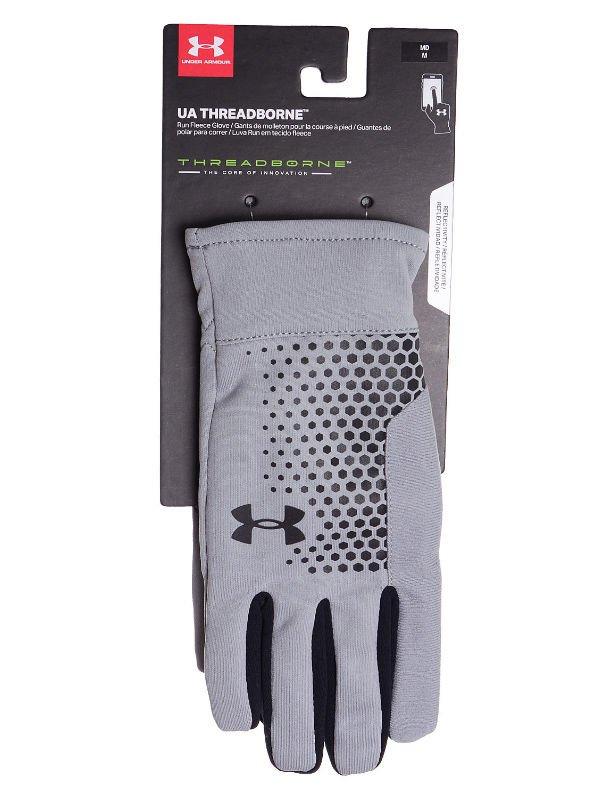 szerokie odmiany przejść do trybu online Całkiem nowy Rękawice Under Armour Men's Threadborne Run Gloves Black