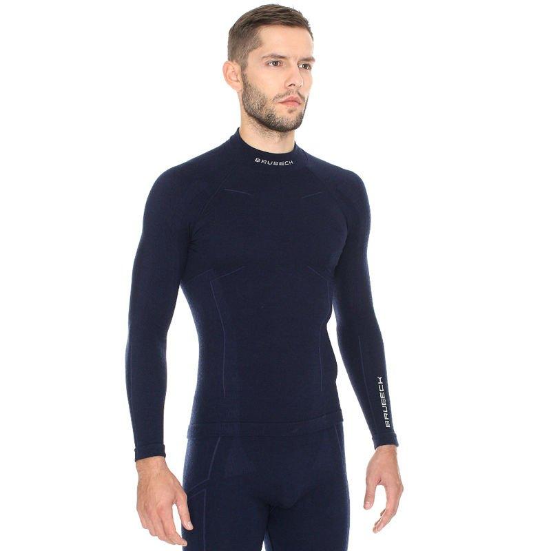 8e70874ff995d8 Termoaktywna ciepła wełniana bluza męska Brubeck Wool LS11920 ...