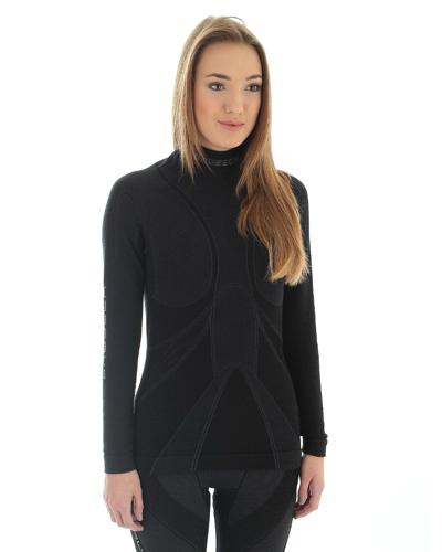 caa0d920972d Termoaktywne bluza damskia Brubeck Extreme Merino LS10200 czarny ...